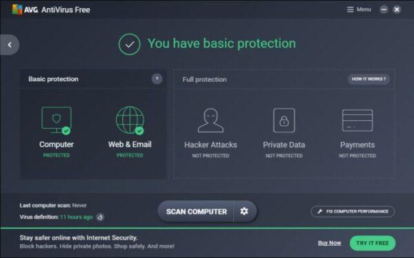 AVG-free virus protection