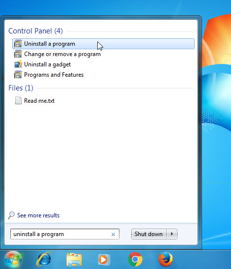 Uninstall and Remove Quickset64 Step