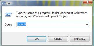 windows7 regedit