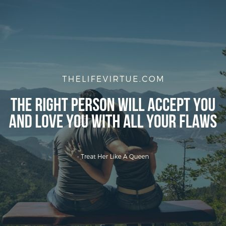 With the right person you really feel like a queen!
